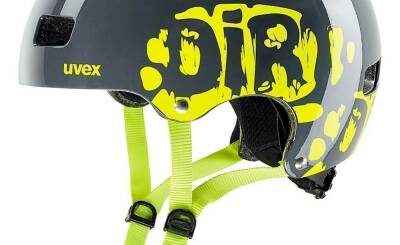 2021 UVEX HELMA KID 3, DIRTBIKE GREY-LIME 51-55